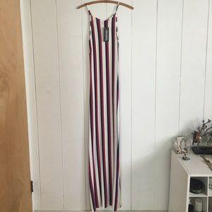 Striped beach maxi dress